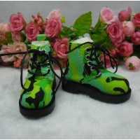 SHM077GRN MSD OB 60cm Bjd Doll High Hill Shoes Army Green