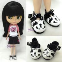 SHP001PAA Blythe Pure Neemo Flection Momoko Doll Shoe Panda Head