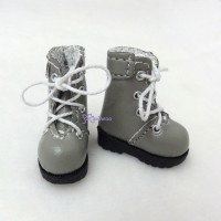 "SHP002GRY 12"" Blythe Lati Yellow Basic Doll Shoes Boots Grey"