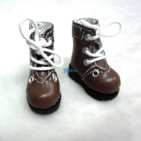 "12"" Blythe Lati Yellow Basic Doll Shoes Boots Brown SHP002LBN"