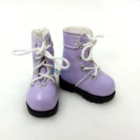"SHP002PUE 12"" Blythe Lati Yellow Basic Doll Shoes Boots Purple"