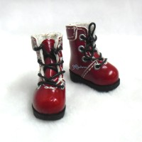 "SHP002RED 12"" Blythe Lati Yellow Basic Doll Shoes Boots Red"