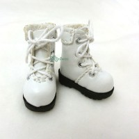 "SHP002WHE 12"" Blythe Lati Yellow Basic Doll Shoes Boots White"