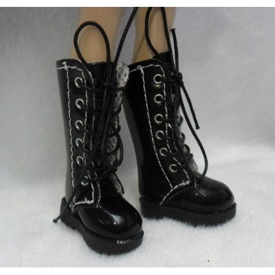Lati Yellow Blythe Pullip Shoes Long Boots Black SHP007BLK