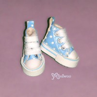 SHP070BLE Blythe Pullip Denim MICRO Shoes Dot Sneaker Blue