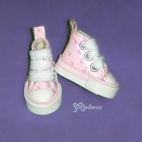 SHP070PNK Blythe Pullip Denim MICRO Shoes Dot Sneaker Pink