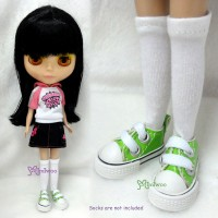"SHP125GRN 12"" Blythe Pullip PU Leather MICRO Shoes Sneaker Green"
