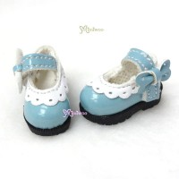 16cm Lati Yellow Mary Jane Strap Shoes Blue SHP112BLE