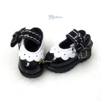 SHP112BLK 16cm Lati Yellow Mary Jane Strap Shoes Black