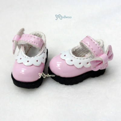 SHP112PNK 16cm Lati Yellow Mary Jane Strap Shoes Pink
