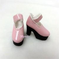 SHP116PNK Blythe Momoko Maryjane Shoes High Heel Boots Pink