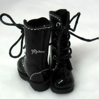Blythe Pullip Momoko Doll Shoes Long Boots Black SHP118BLK