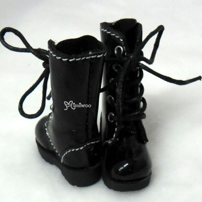 Blythe Pullip Momoko Doll Shoes Long Boots Black SHP118BLK