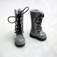 SHP118GRY Blythe Pullip Momoko Doll Shoes Long Boots Grey