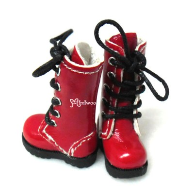 SHP118LRED Blythe Pullip Momoko Doll Shoes Long Boots Red