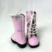 SHP118PNK Blythe Pullip Momoko Obitsu Doll Shoes Long Boots Pink