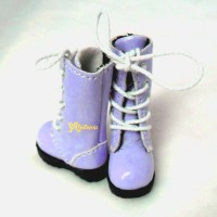 SHP118PUE Blythe Pullip Momoko Doll Shoes Long Boots Purple