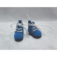 Blythe Pullip Momoko Obitsu Shoes Velvet Boots Blue SHP187BLE