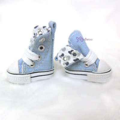 Blythe Pullip Denim MICRO Shoes Folded Boots Blue SHP188BLE
