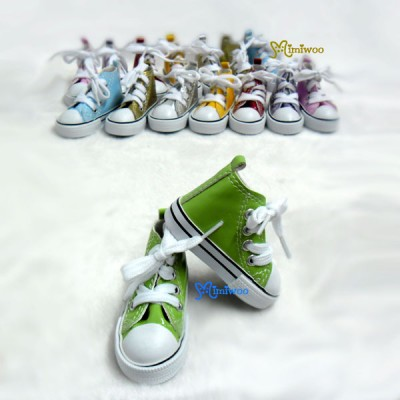 SHS098GRN BJD Doll SD DD Sneaker PU Leather Shoes Green