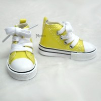 Super Dollfie SD DD bjd Shoes Metallic Sneaker YELLOW SHS140YEW