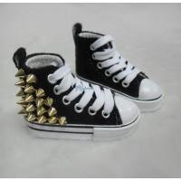 Super Dollfie SD 1/3 bjd Punk Rivet Velvet Shoes BLACK SHS141BLK