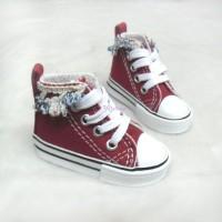 Super Dollfie SD 1/3 bjd Doll Flower Trim Shoes RED SHS142RED