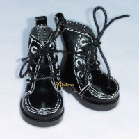 Yo-SD bjd Dollfie Doll Leeke Shoes Hiking Boots Black SHU042BLK