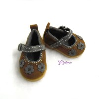 SHU049BRN Yo-SD bjd Doll Leeke Velvet Flower Shoes Brown