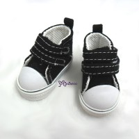 SHU051BLK Yo-SD bjd Leeke Doll Shoes 2 Strap Denim Boots Black