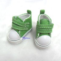 SHU051GRN Yo-SD bjd Leeke Doll Shoes 2 Strap Denim Boots Green