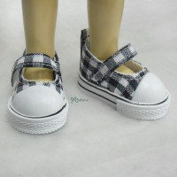 Yo-SD Leeke Doll Maryjane Denim Shoes Checker Black SHU052BLK