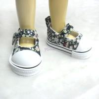 Yo-SD bjd Leeke Doll Maryjane Denim Shoes Navy Flower SHU052FNY