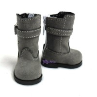 Yo-SD Bjd Dollfie Shoes Buckle Velvet Boots Grey SHU053GRY