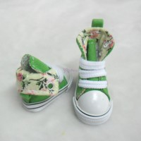 Yo-SD Albu Dog Taeyang Shoes Denim Folded Boots Green SHU059GRN