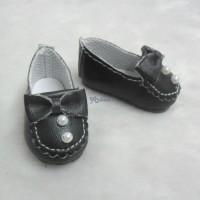 SHU062BLK Yo-SD bjd Doll Leeke Butterfly Bow Bead Shoes Black
