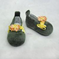 Monchhichi S MCC Yo-SD Bjd Velvet Flower Shoes Green SHU064GRN