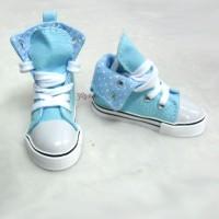 SMB001LBE SD13 Boy Dollfie Shoes Denim Folded Sneaker Lt.Blue