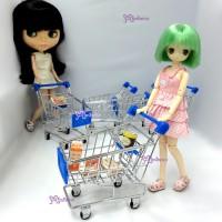 TBA015BLE Blythe Hujoo DAL Miniature Mini Shopping Cart S Blue