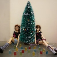 1/6 Bjd Miniature Plastic Fiber Mini Christmas Tree TBA017