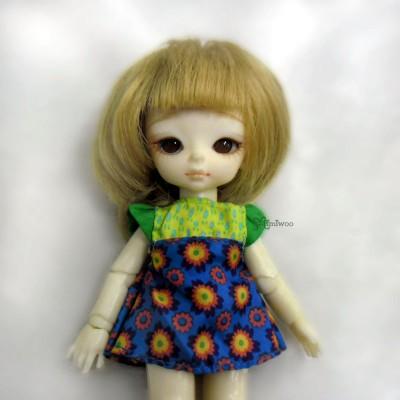 TBS087GRN Hujoo Baby Suve Obitsu 11cm Outfit Flower Dress