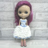 Blythe Momoko Pullip Doll Outfit Cake Layer Dress TBS095WHE