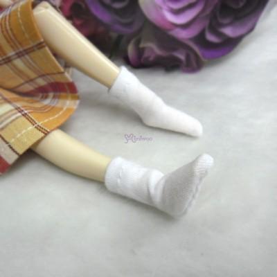 Blythe Pullip Hujoo Obitsu 1/6 Doll Short Socks White TPD118WHE