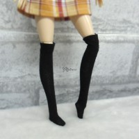 Blythe Pullip Hujoo Obitsu 1/6 Doll Long Socks Black TPD119BLK