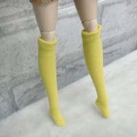 Blythe Pullip Hujoo Obitsu 1/6 Doll Long Socks Yellow TPD119YEW