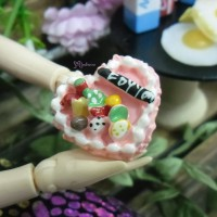 TPS026CAK 1/6 Bjd Doll Miniature Food Mini Heart Fruit Cake