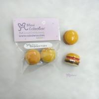 TPS027TCH 1/6 Bjd Food Miniature Mini Tomato Hamburger 2pcs