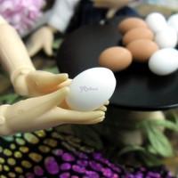 TPS031EGW 1/6 Bjd Doll Miniature Mini Resin Food White Egg 5pcs