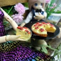 TPS031PZA 1/6 Bjd Miniature Food Dessert Mini Resin Apple Pie