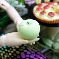 TPS033APG 1/6 Bjd Food Miniature Fruit Mini Green Apple (3pcs)